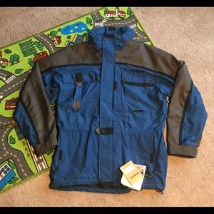 NWT OBERMEYER SKI JACKET MENS LARGE RARE BLUE hood